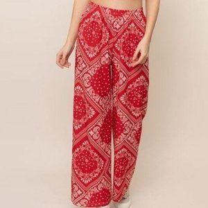 NWT  *BOUTIQUE**   RED PALAZZO PANTS   SM/MED